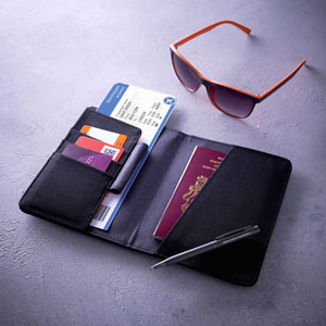 Travel Wallet Black & Grey