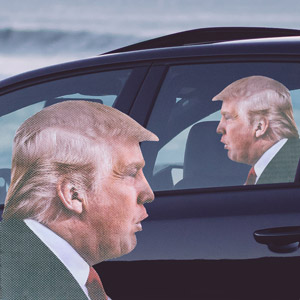 Ride With Trump Autosticker