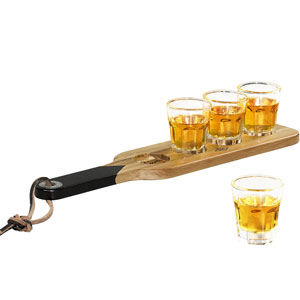Shot Glasses & Serving Paddle