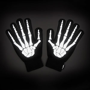 Skeleton Print Gloves