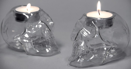 T-Skull Tealights - Set of 2
