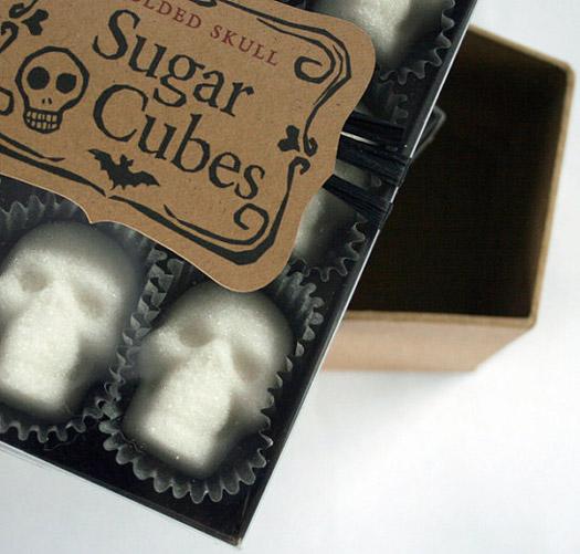 Totenkopf Zuckerwürfel