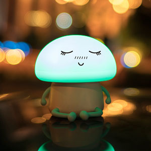 Mushroom Emoticon Night Light