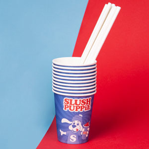 Slush Puppie Paper Cups & Straws