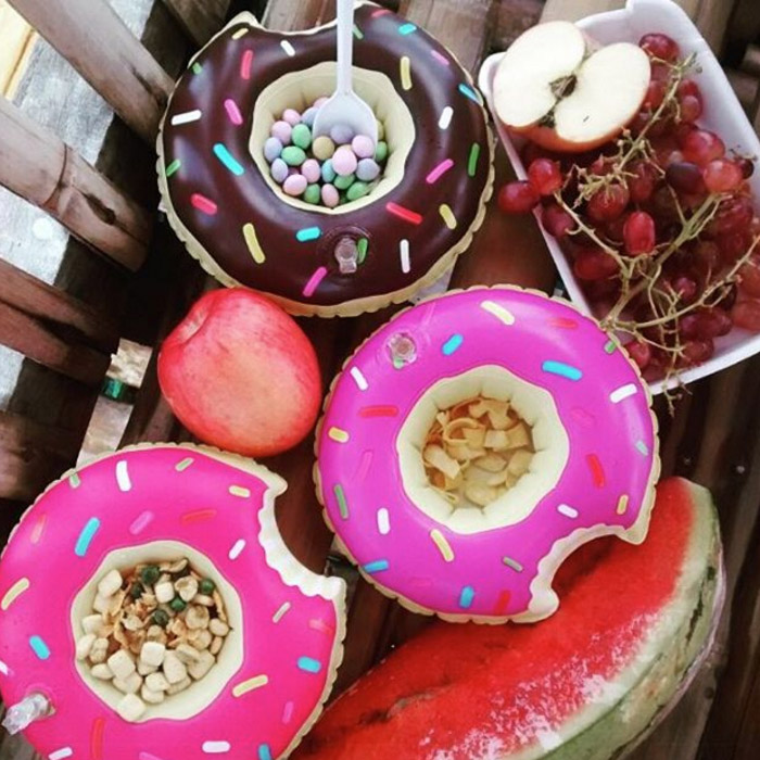 Beverage Boats Donuts