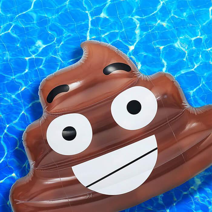 Emoji Kackhaufen Schwimminsel