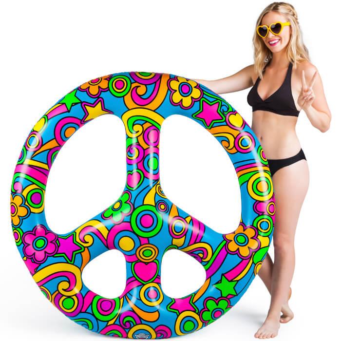 Schwimminsel Peacezeichen