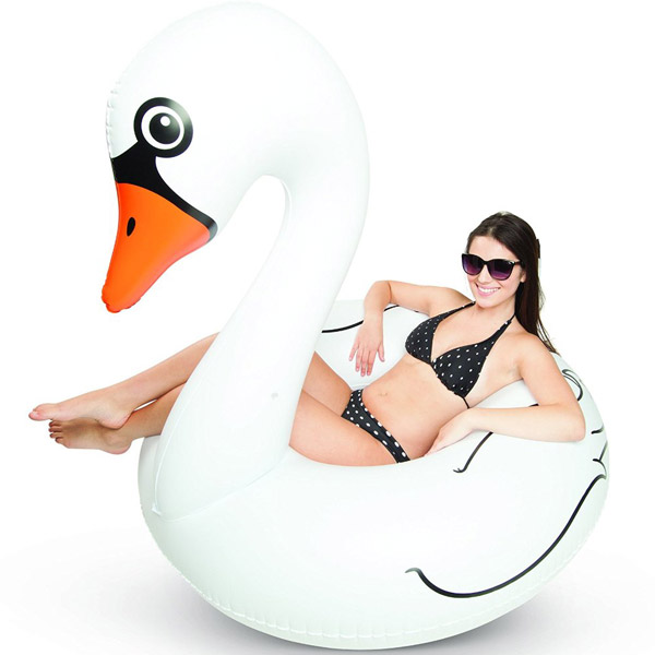 Pool Float White Swan