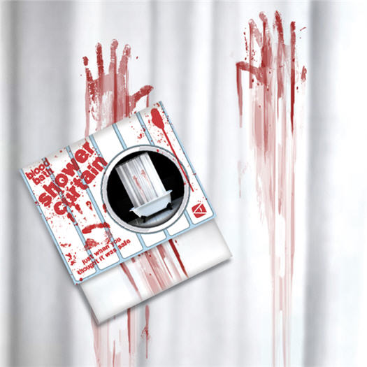 SpinningHat - Blood Bath Shower Curtain