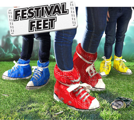 Festival Feet Blue