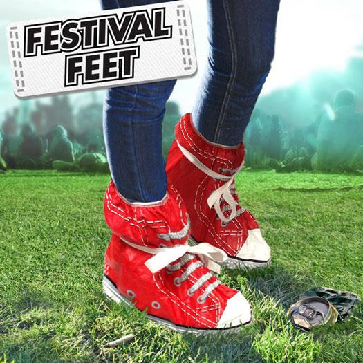 Open Air Festival Überschuhe Rot