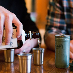 Adventure Steel Shots & Flask Gift Set