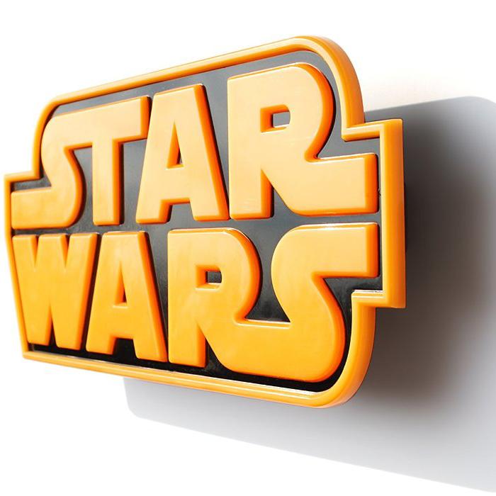 Star Wars Logo Wandleuchte