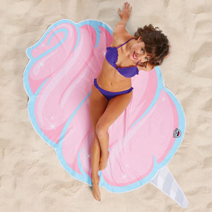 Gigantic Cotton Candy Beach Blanket