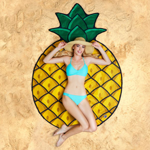 Gigantic Pineapple Beach Blanket