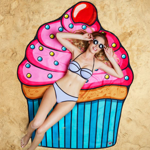 Gigantic Cupcake Beach Blanket