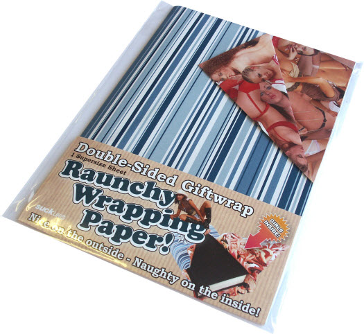 Raunchy Wrapping Paper Girls Inside