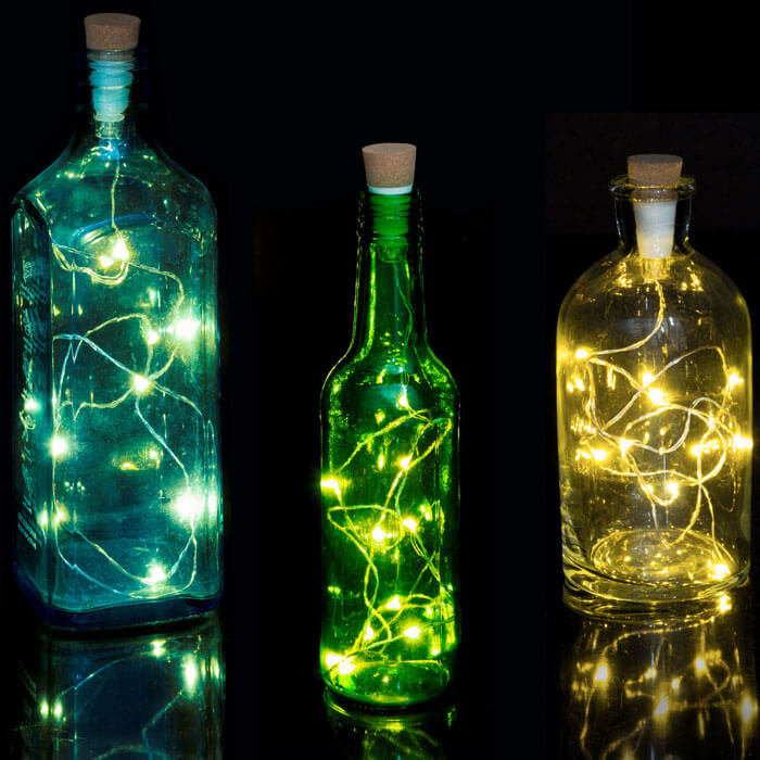Lichterkette für Flaschen