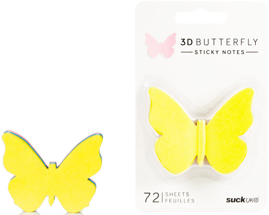 Haftnotizen Schmetterling