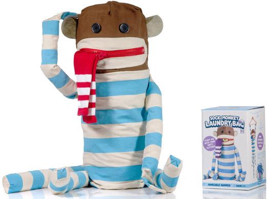 Sock Monkey Laundry Bag