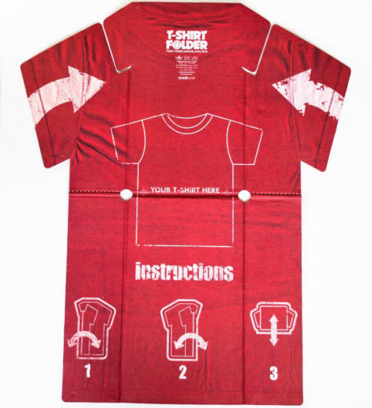 Faltbrett: Hilfe für's T-Shirt Falten