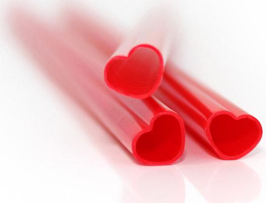 Strohhalm Herzchen