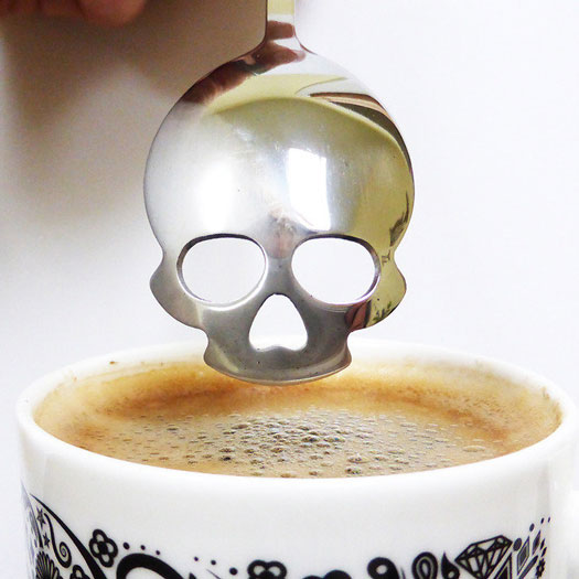 Skull Shaped Spoon for Sugar