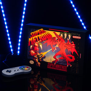 Locandina Luminosa Super Metroid