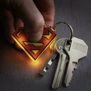 Superman Light Up Key Ring