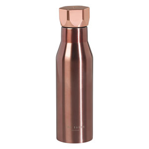 Ted Baker Rose Gold Hexagonal Lid Water Bottle