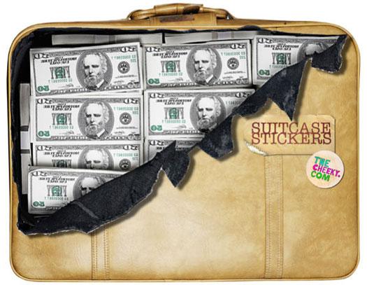 Koffer Sticker - Geldscheine