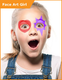 Face Art Girl Face Paint Set