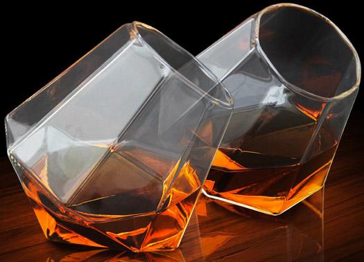 Diamond Glass Set of 2