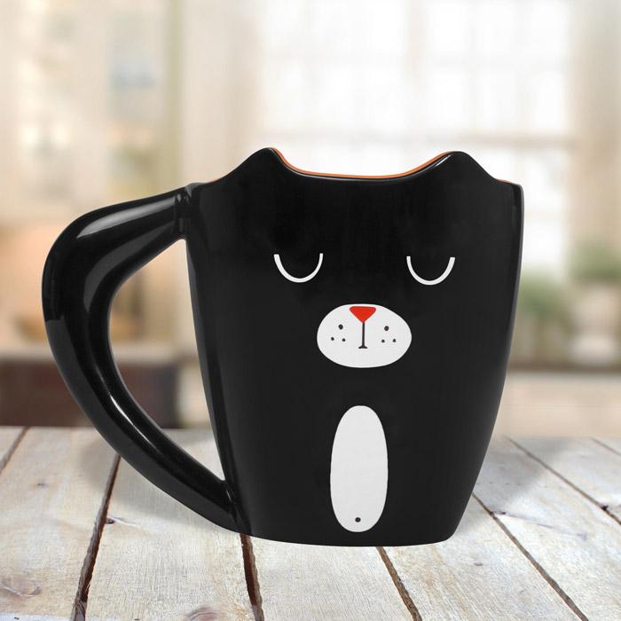 Tasse Schwarze Katze