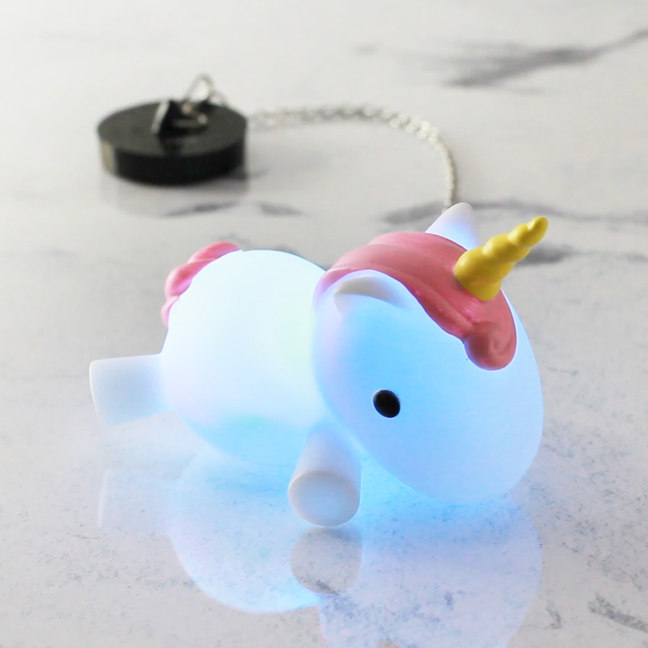 Colour Changing Light Up Unicorn Bath Plug