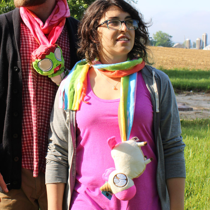 Unicorn Poop Stuffed Scarf