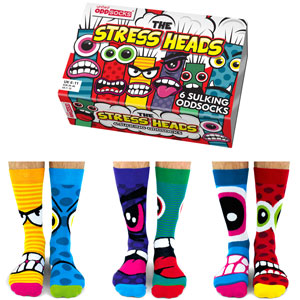 United Oddsocks Stressheads Socks Gift Set