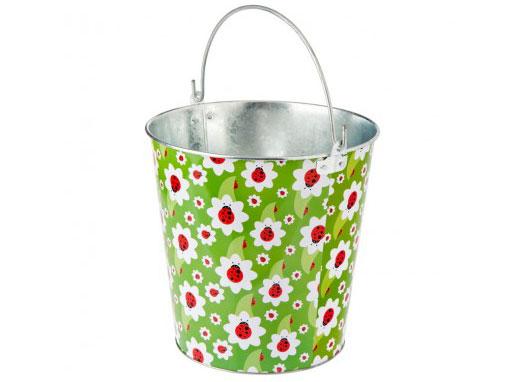 Metal Bucket 12 L Vigar Ladybug