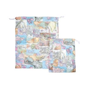 Vintage Map Travel Laundry Bags