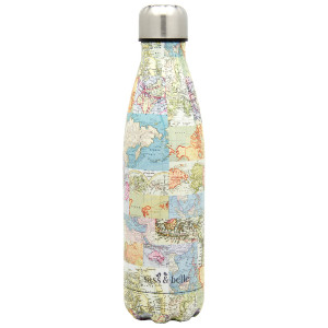 Vintage Map Water Bottle