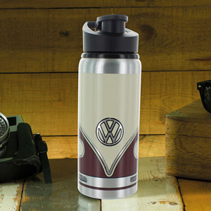 VW Bus Trinkflasche Rot