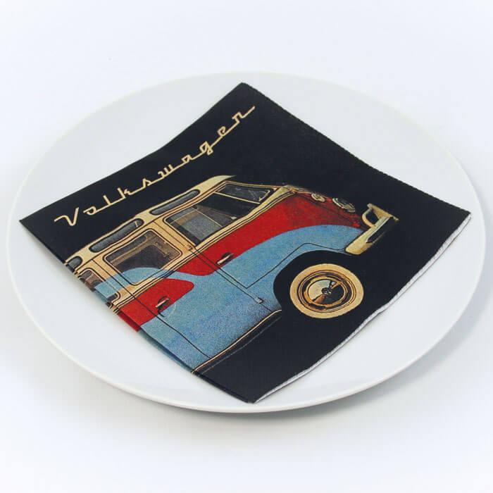 Serviettes en Papier Combi & Coccinelle VW