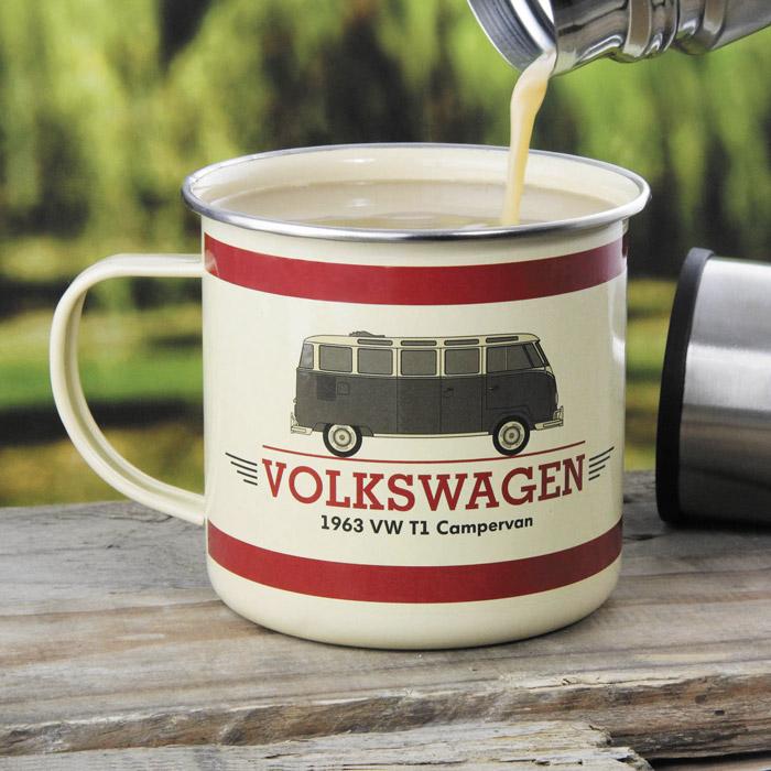 VW Bus Emailletasse