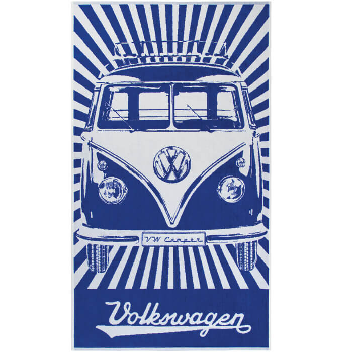 VW T1 Bus Beach Towel Samba Blue