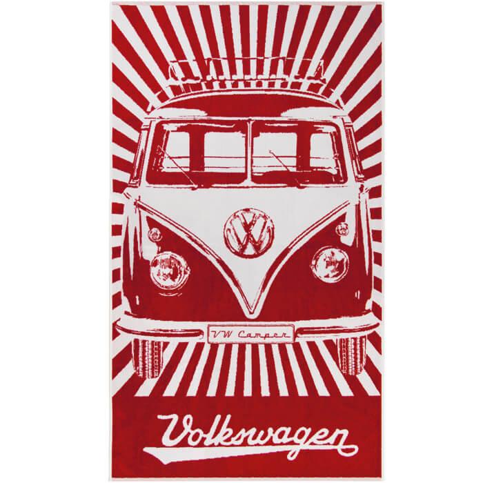 VW Bus Strandtuch Rot