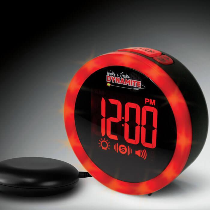 Wake 'n' Shake Dynamite Vibration Alarm Clock