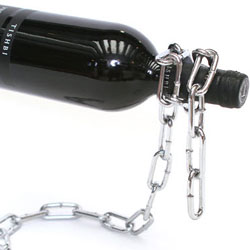 Chain Wine Bottle Holder floating wine illusion