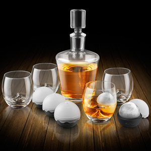 On The Rock Glass Decanter Set