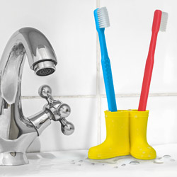 Welly Boots Toothbrush Holder